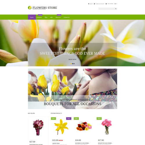 Flower Store - Shopify Template based on Bootstrap