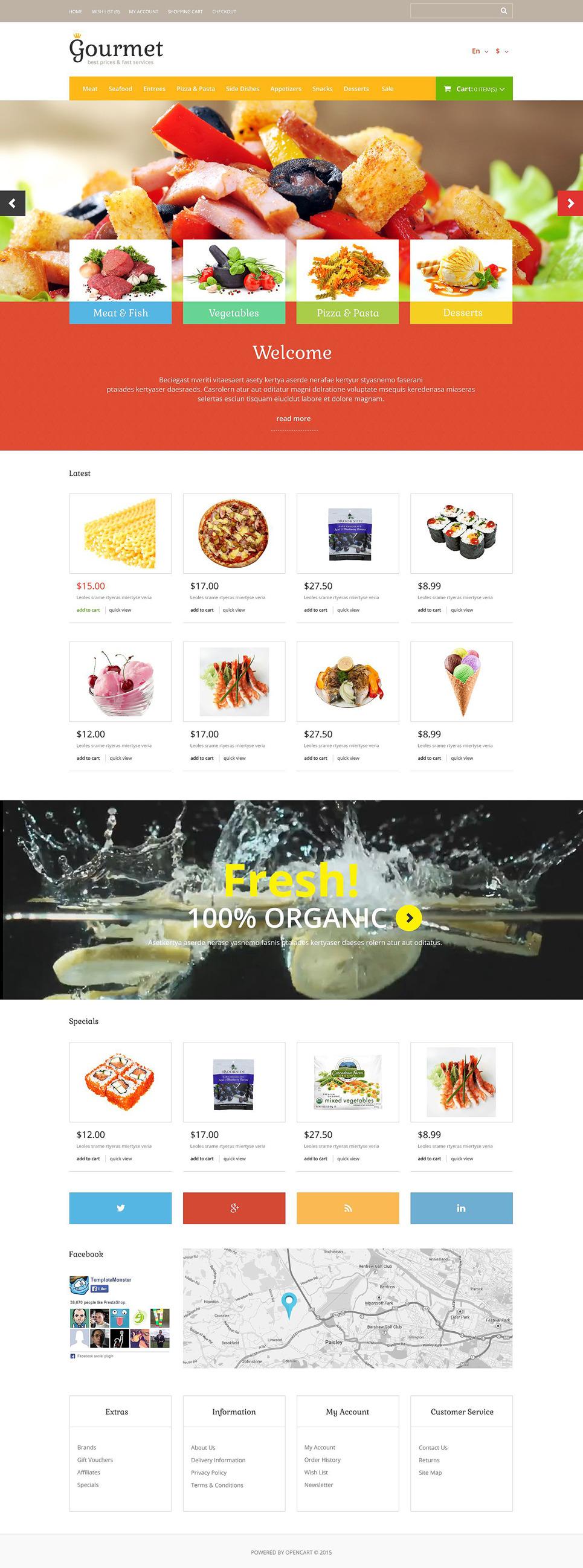 Food Shop OpenCart Template New Screenshots BIG