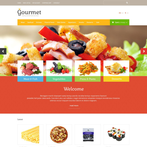 Gourmet - OpenCart Template based on Bootstrap