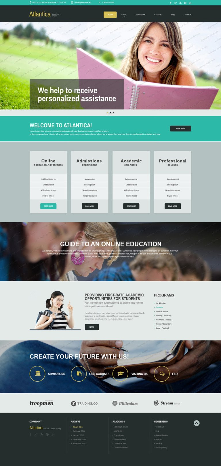 Free Education Joomla Template Joomla Template New Screenshots BIG