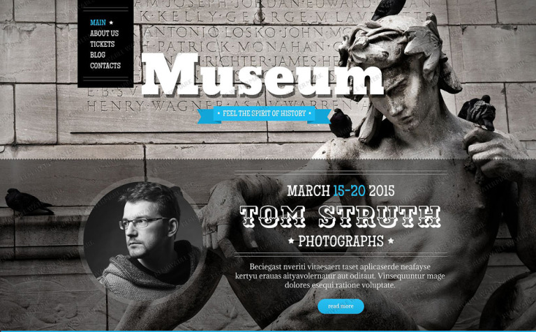 Free Museum Drupal Template