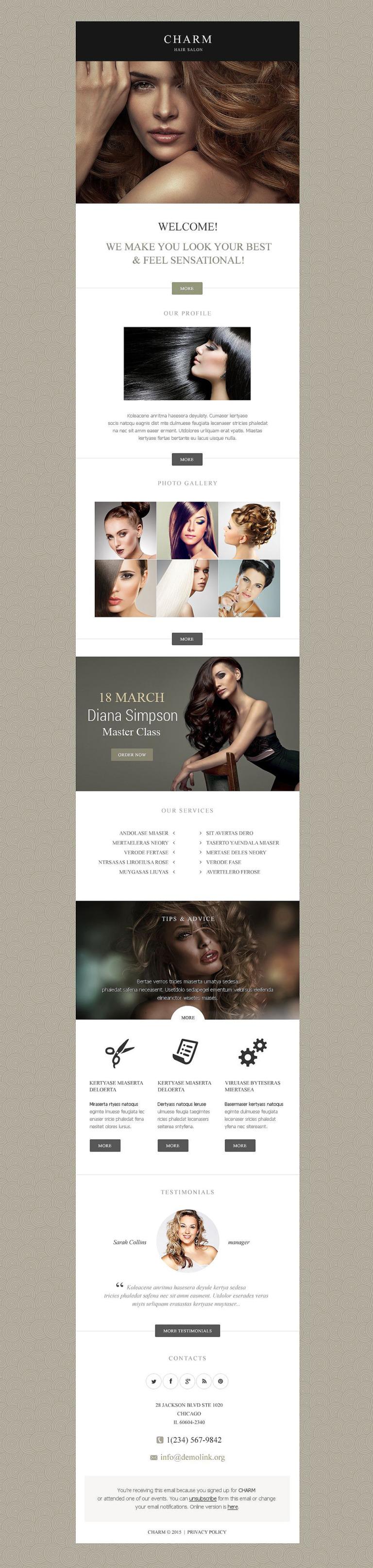 Hair Salon Responsive Newsletter Template New Screenshots BIG