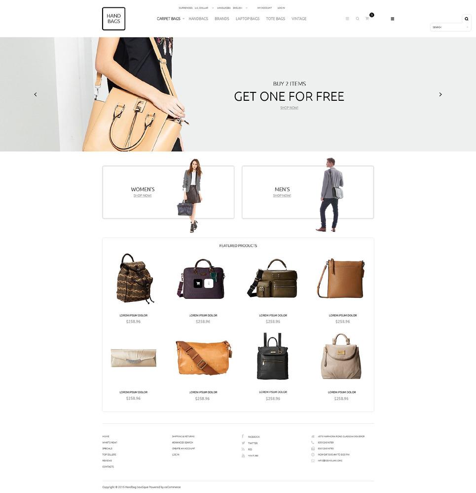 Handbag Boutique OsCommerce Template New Screenshots BIG