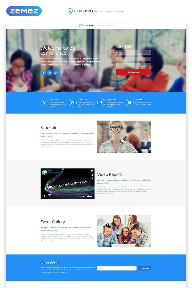 HTML PRO - IT Company Clean HTML Landing Page Template