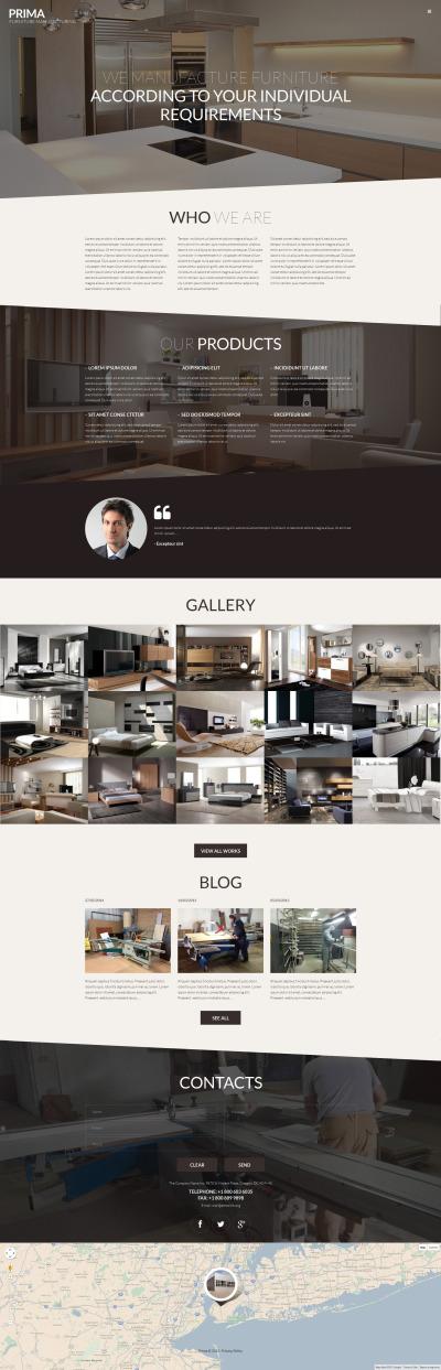 Interior  Furniture Tema WordPress №53145 #53145