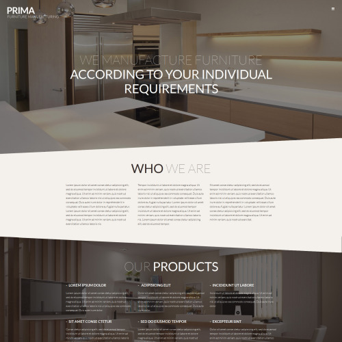 Interior  Furniture - WordPress Template based on Bootstrap