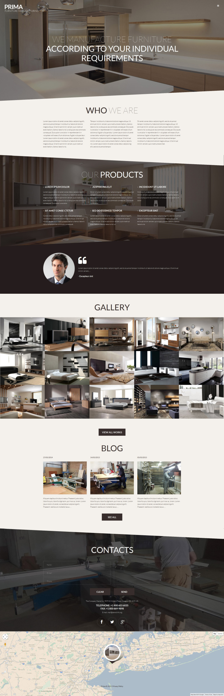 Interior Furniture WordPress Theme New Screenshots BIG