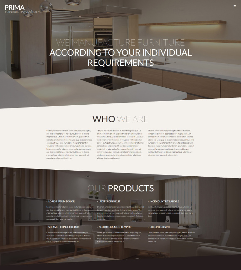 Interior Furniture WordPress Theme #53145