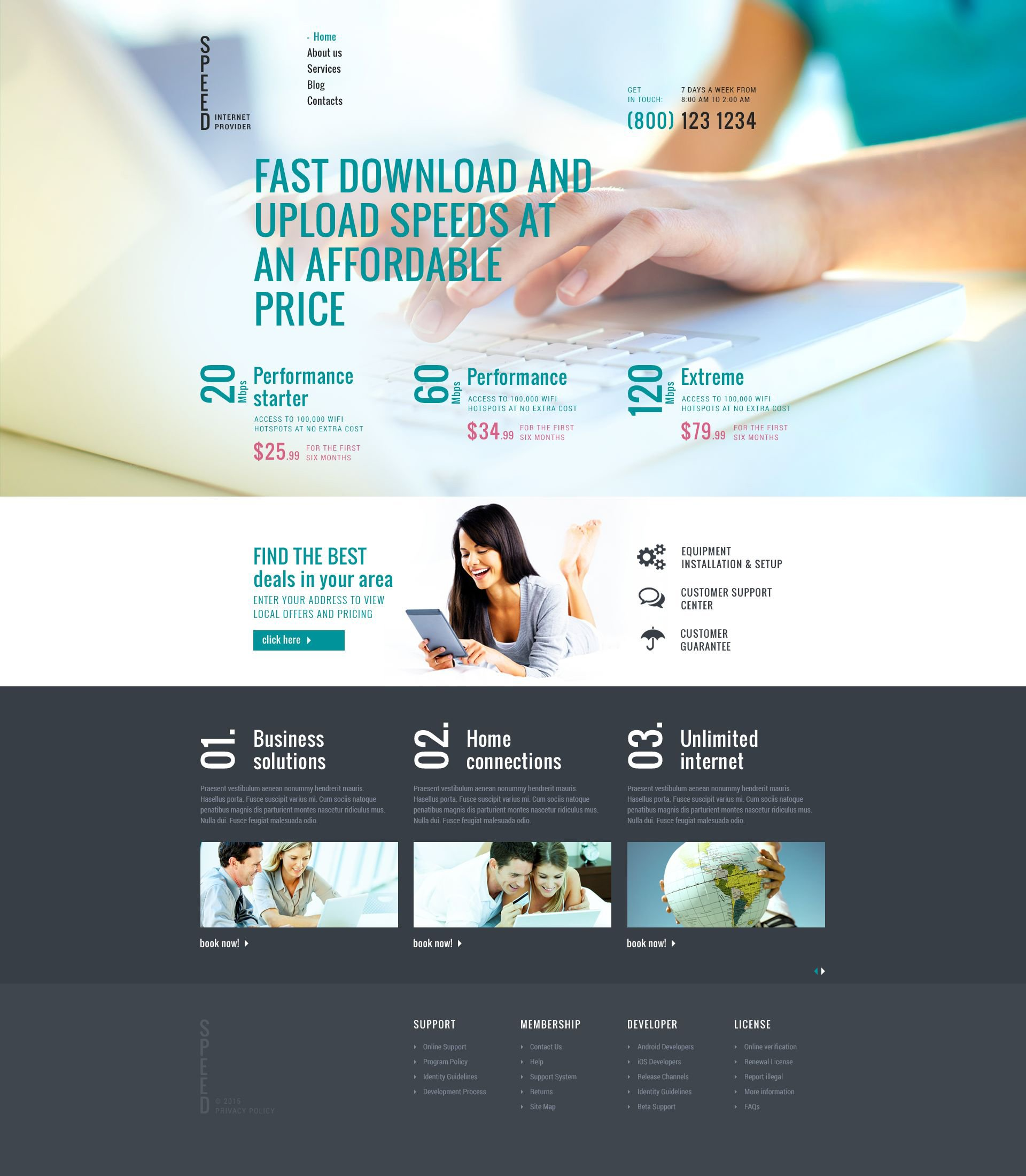 """Internet Connection"" Responsive Joomla Template №53112"