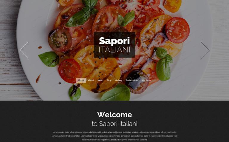 Italian Restaurant Free Drupal Theme