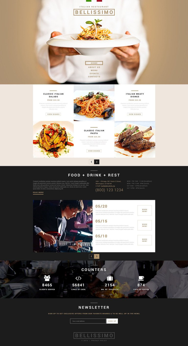 Italian Restaurant Responsive Joomla Template New Screenshots BIG