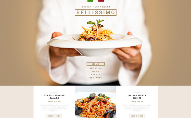 Italian Restaurant Responsive Joomla Template
