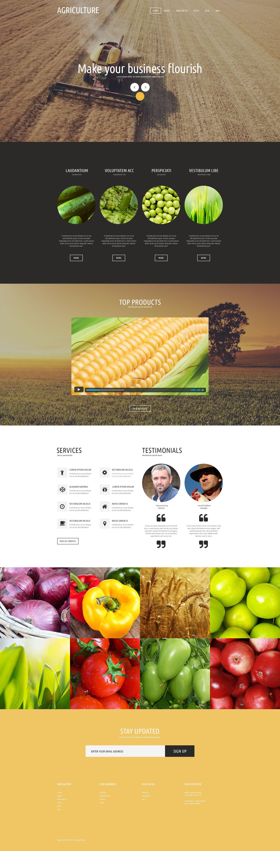 "Joomla Vorlage namens ""Agricultural Organization"" #53147"