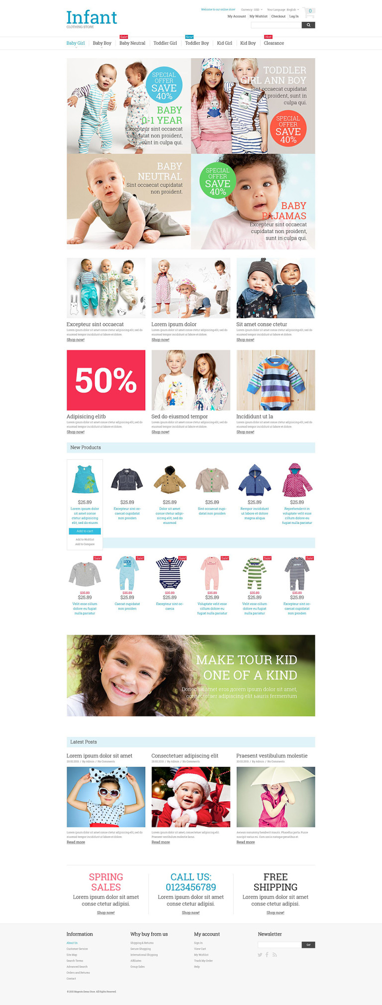 Kids Fashion Magento Theme New Screenshots BIG