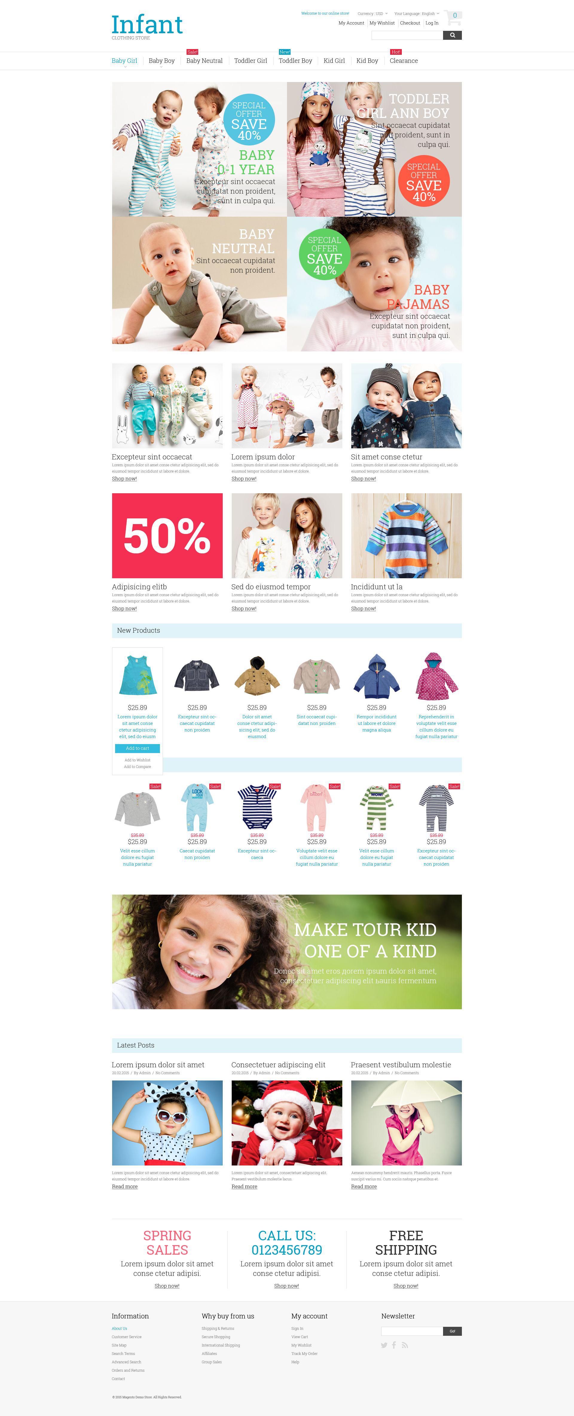Kids Fashion Magento Theme