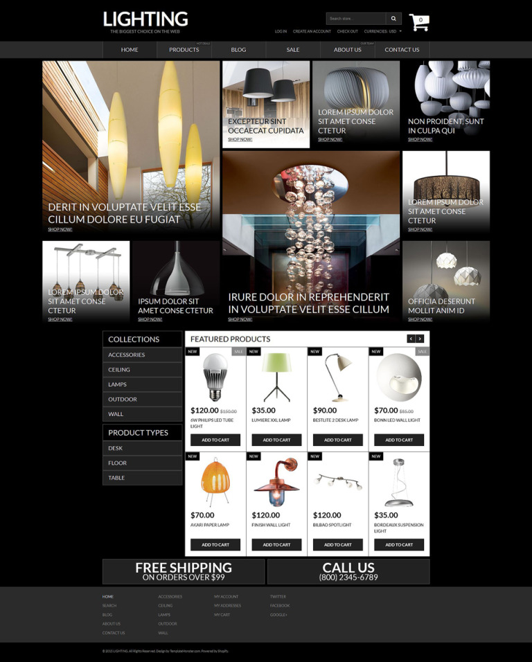 Lighting & Electricity Responsive Shopify Theme New Screenshots BIG