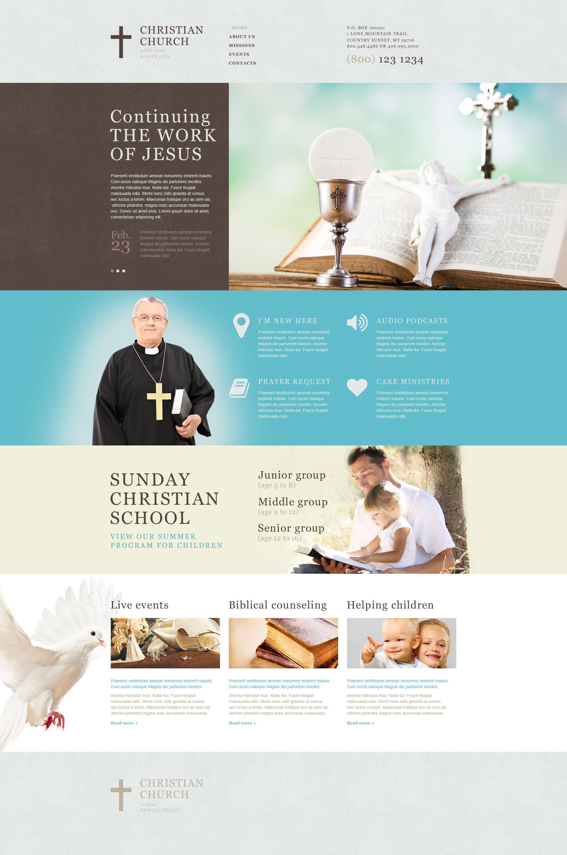 Modèle Muse pour site chrétien #53126