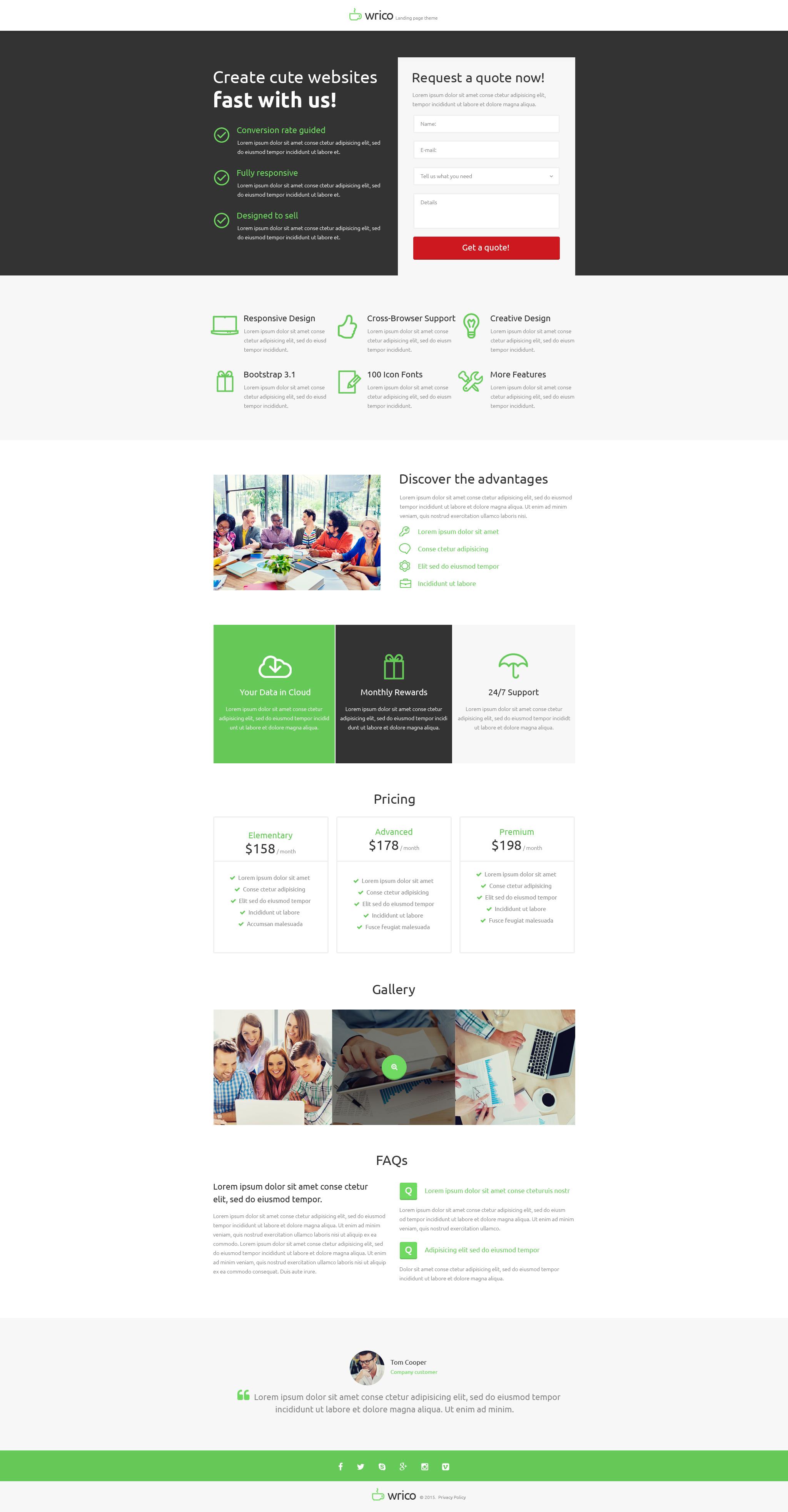 Modèle Unbounce pour site de développement Web #53188 - screenshot