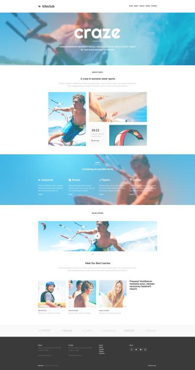 Modèle Web adaptatif  pour site de kitesurf