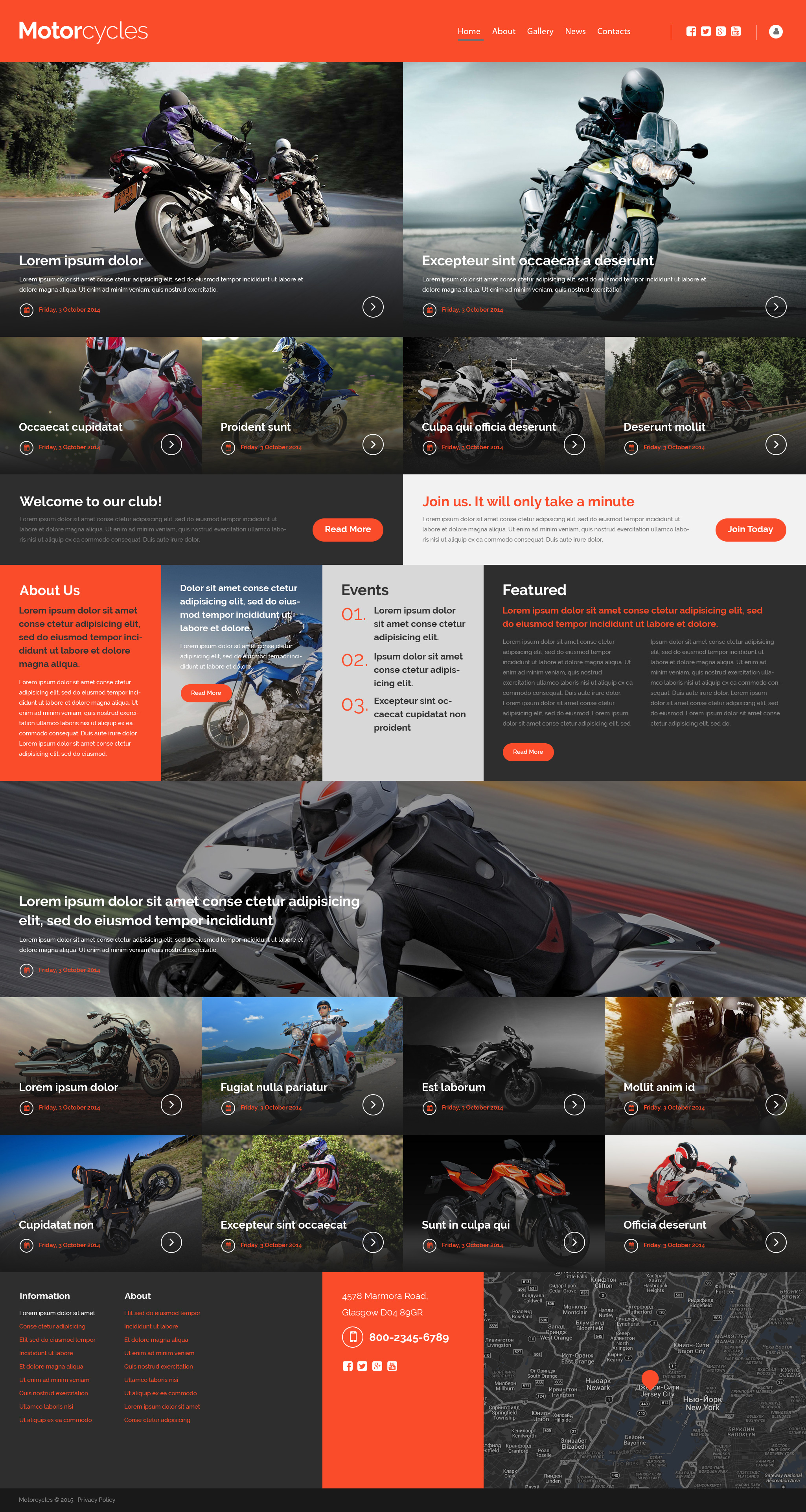 Motocross Website Template