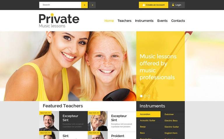 Music Education Website Template