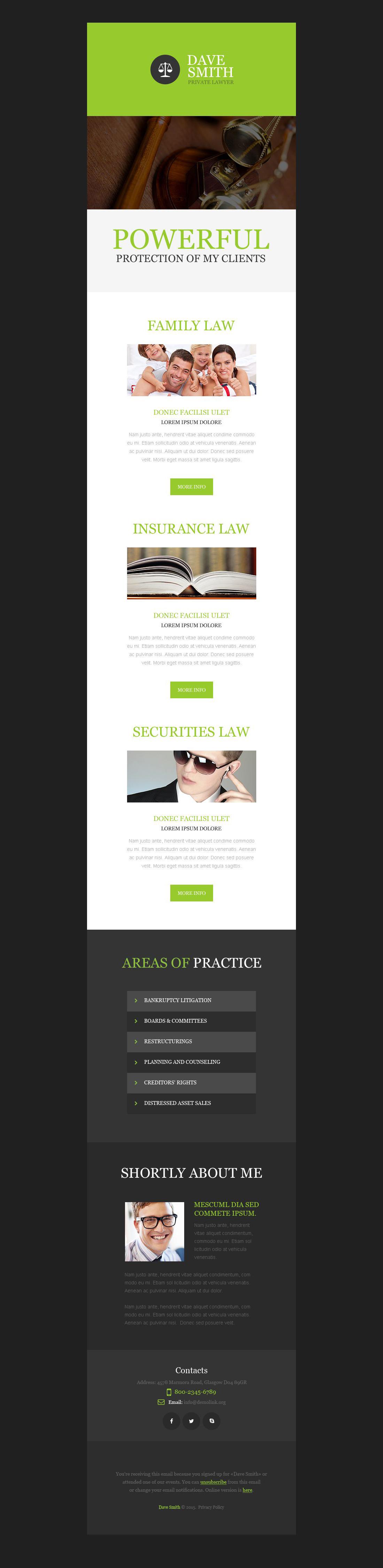 Newsletter Vorlage für Anwaltskanzlei #53195