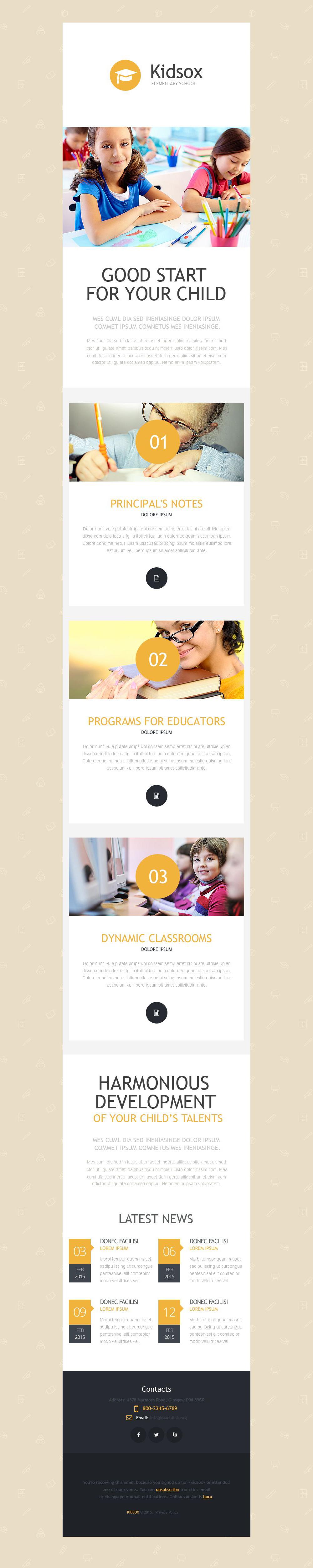 Newsletter Vorlage für Grundschule #53194