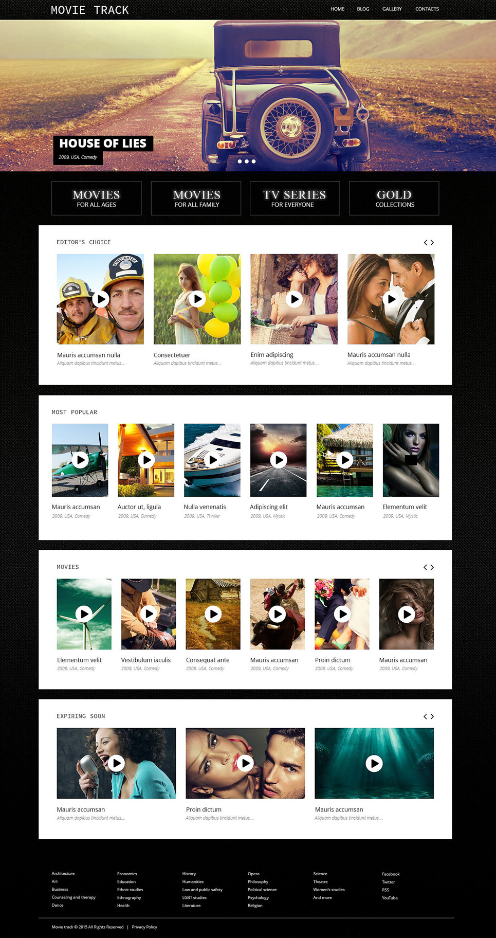 Online Movies WordPress Theme New Screenshots BIG