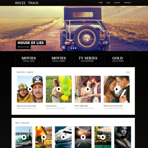 Movie Track - WordPress Template based on Bootstrap