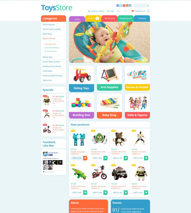 95b14769a918 OpenCart шаблон #53166 на тему детские игрушки от TemplateMonster