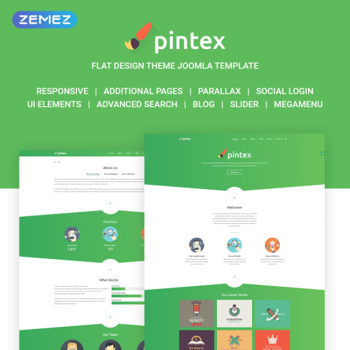Pintex - Joomla! Template based on Bootstrap