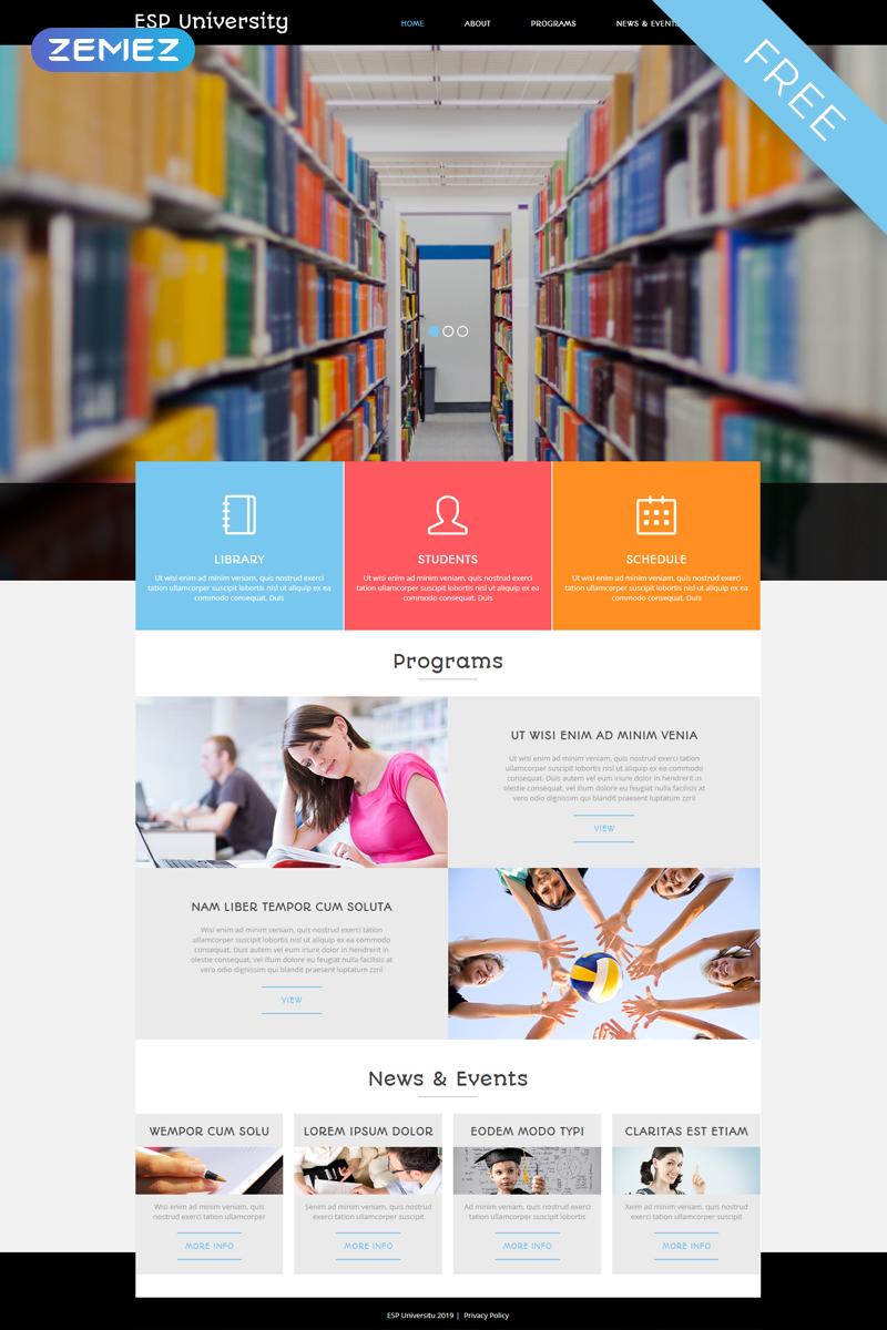 """Plantilla Joomla """"Plantilla Joomla Gratuita para Sitio de Educación"""" #53168"""