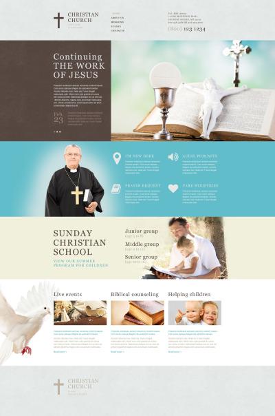 Plantilla Muse #53126 para Sitio de  para Sitio de Cristianismo