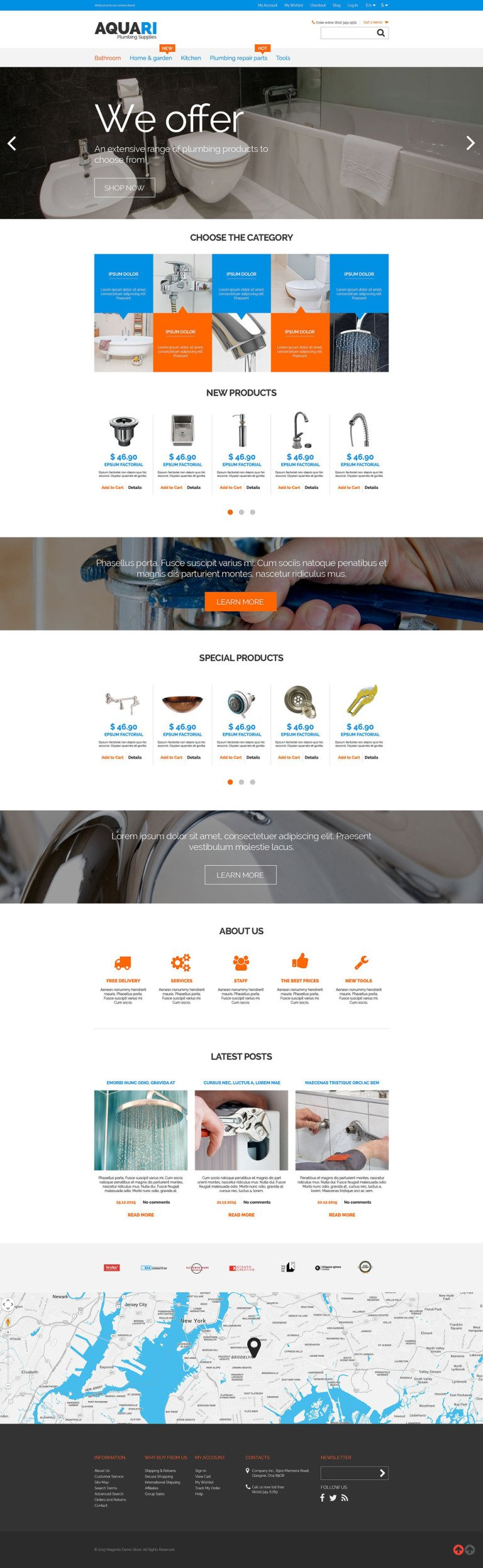 Plumbing Solutions Magento Theme New Screenshots BIG