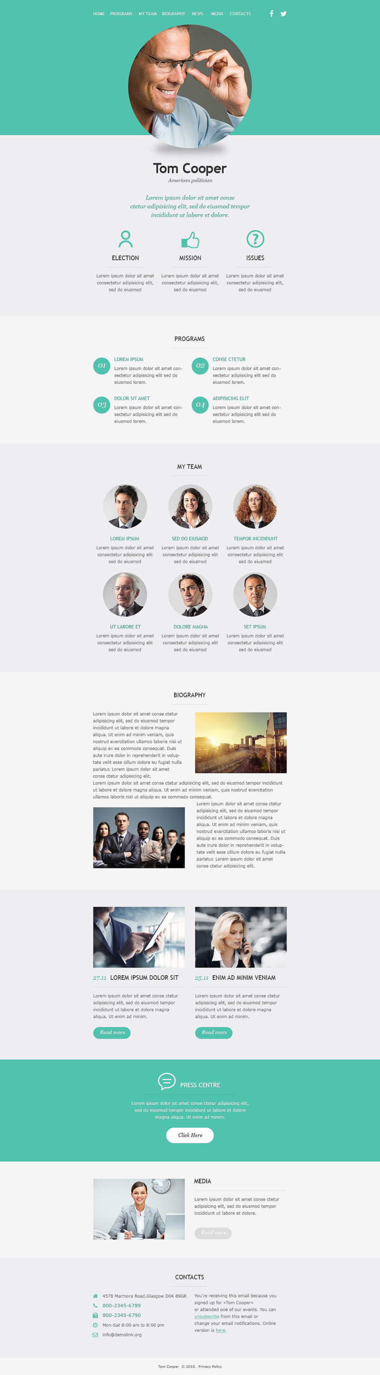 Political Candidate Responsive Newsletter Template New Screenshots BIG