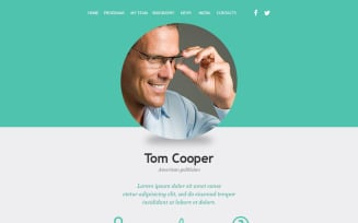 Political Candidate Responsive Newsletter Template