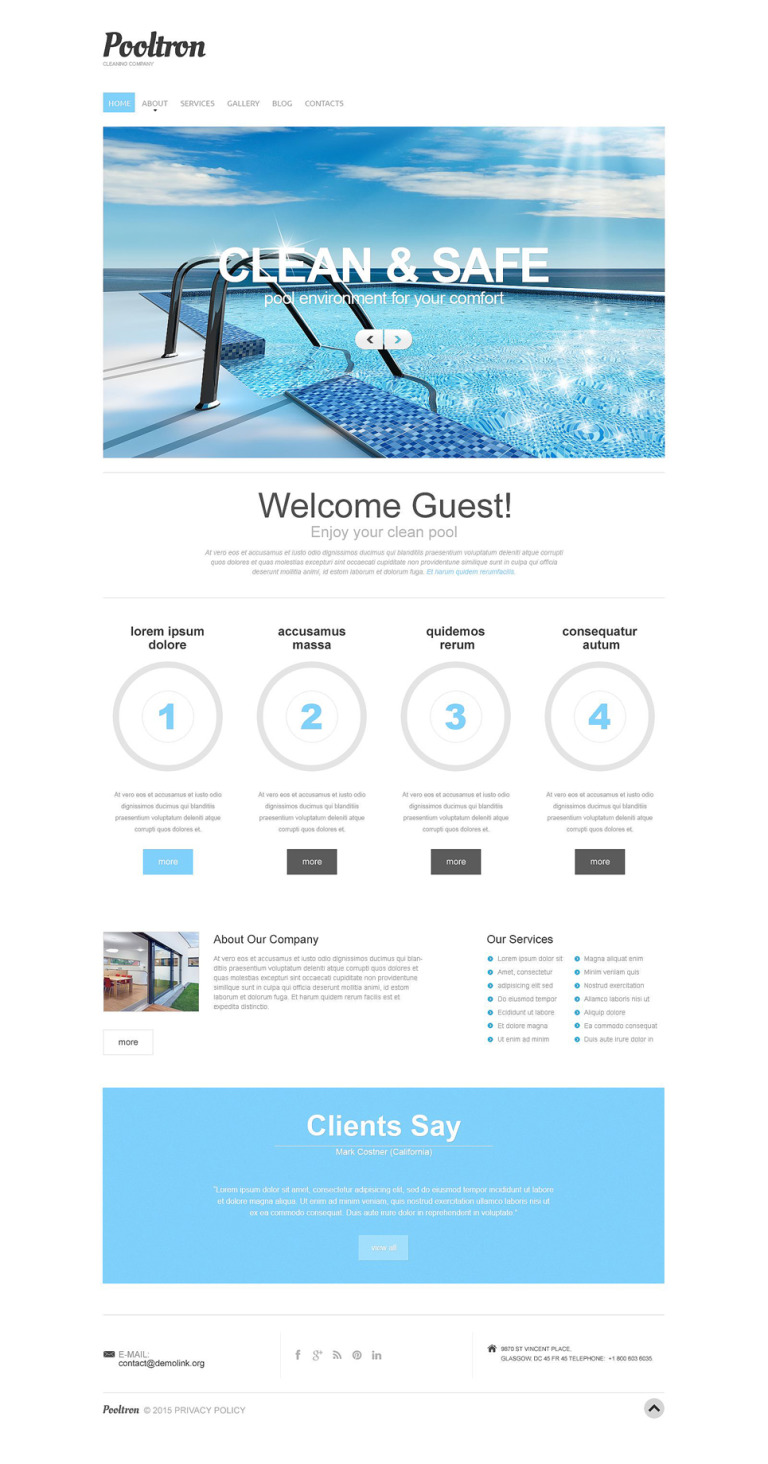 Pool Cleaning Responsive Drupal Template New Screenshots BIG