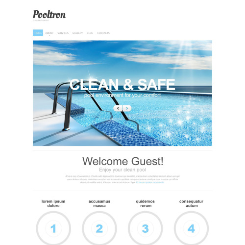 Pooltron - Responsive Drupal Template