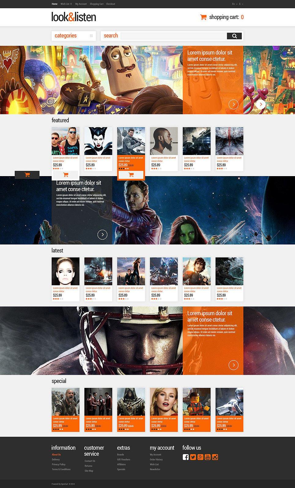 Premium Audio Video OpenCart Template New Screenshots BIG