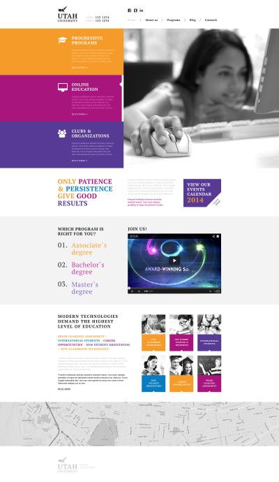 University Responsive Web Sitesi Şablonu