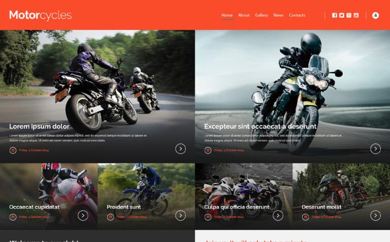 Website Vorlage #53156 für Motorsport