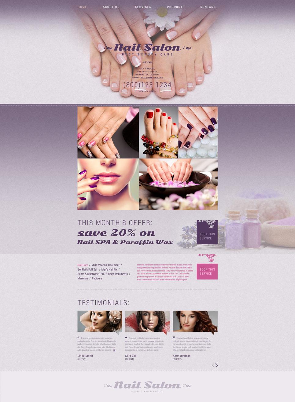 Website Vorlage #53159 Fu00fcr Nagelstudio