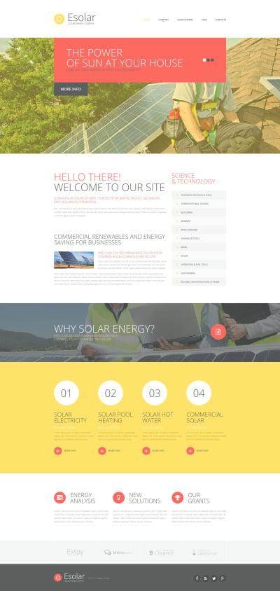 Responsive Website Vorlage für Solarenergie