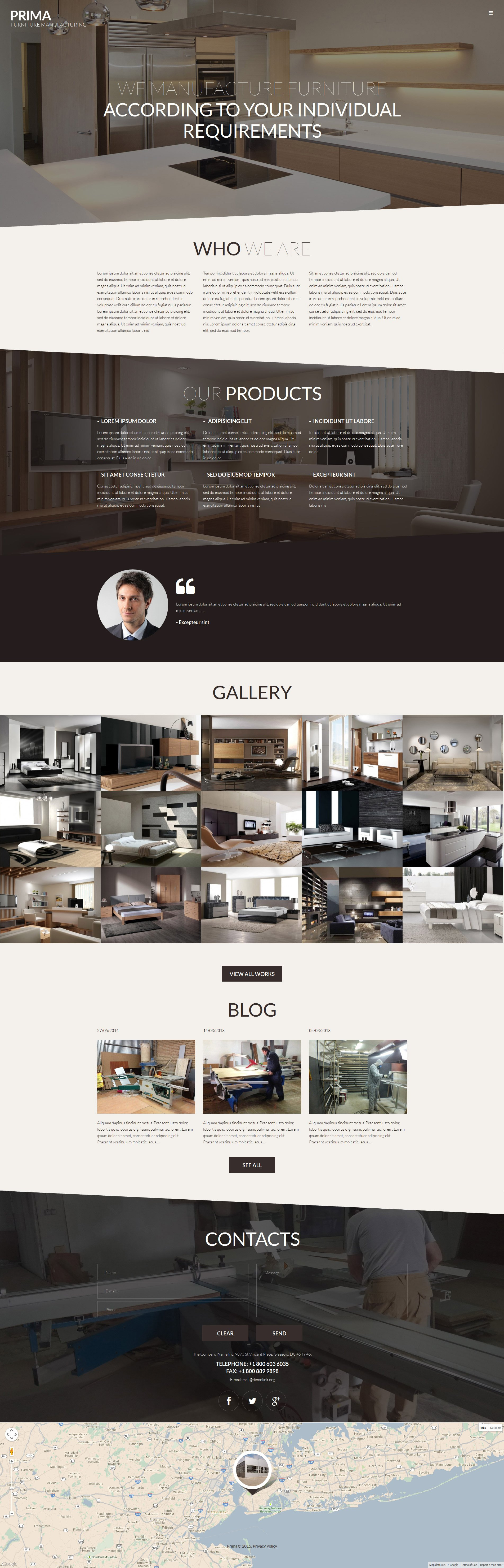 Responsivt Interior  Furniture WordPress-tema #53145