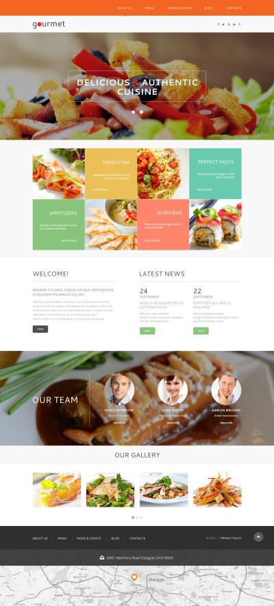 Responsywny motyw WordPress #53143 na temat: restauracja europejska