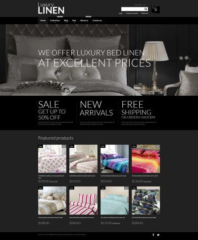 Responsywny szablon Shopify #53139 na temat: dekoracja wnętrz