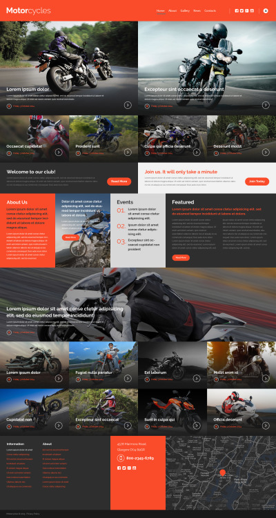 Responsywny szablon strony www #53156 na temat: sporty motorowe