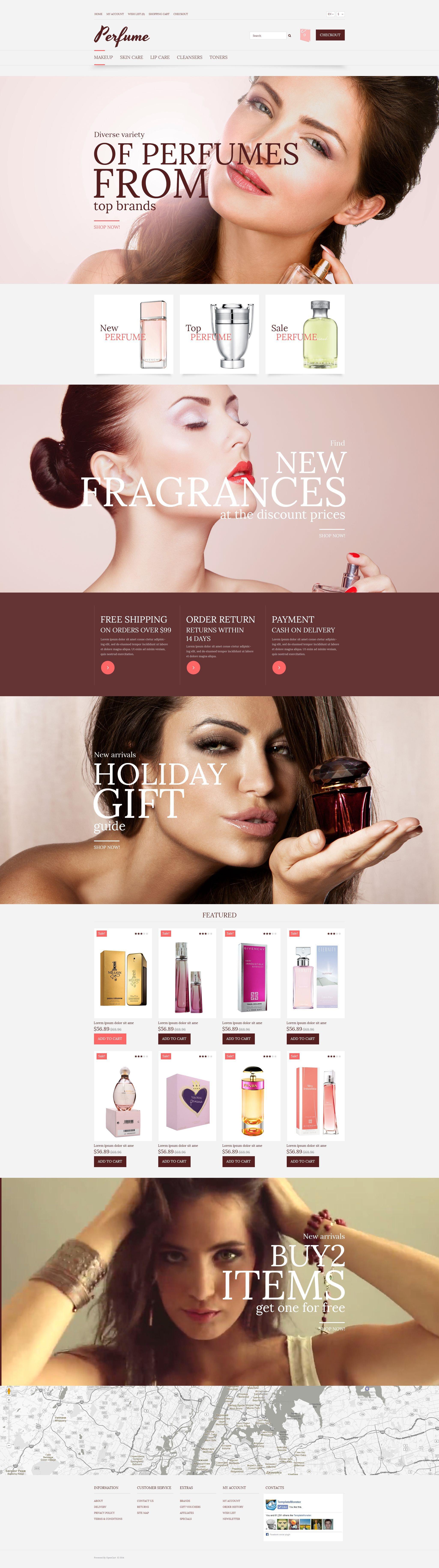 "Responzivní OpenCart šablona ""Elegant Fragrance"" #53123"