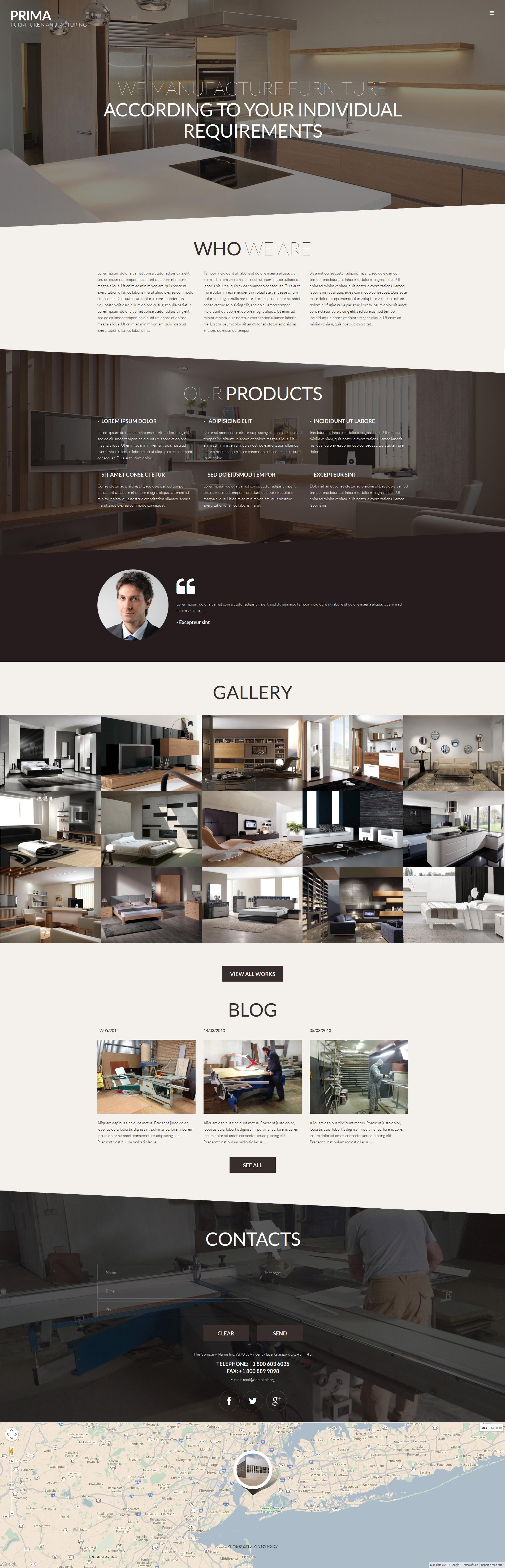 Reszponzív Interior  Furniture WordPress sablon 53145 - képernyőkép