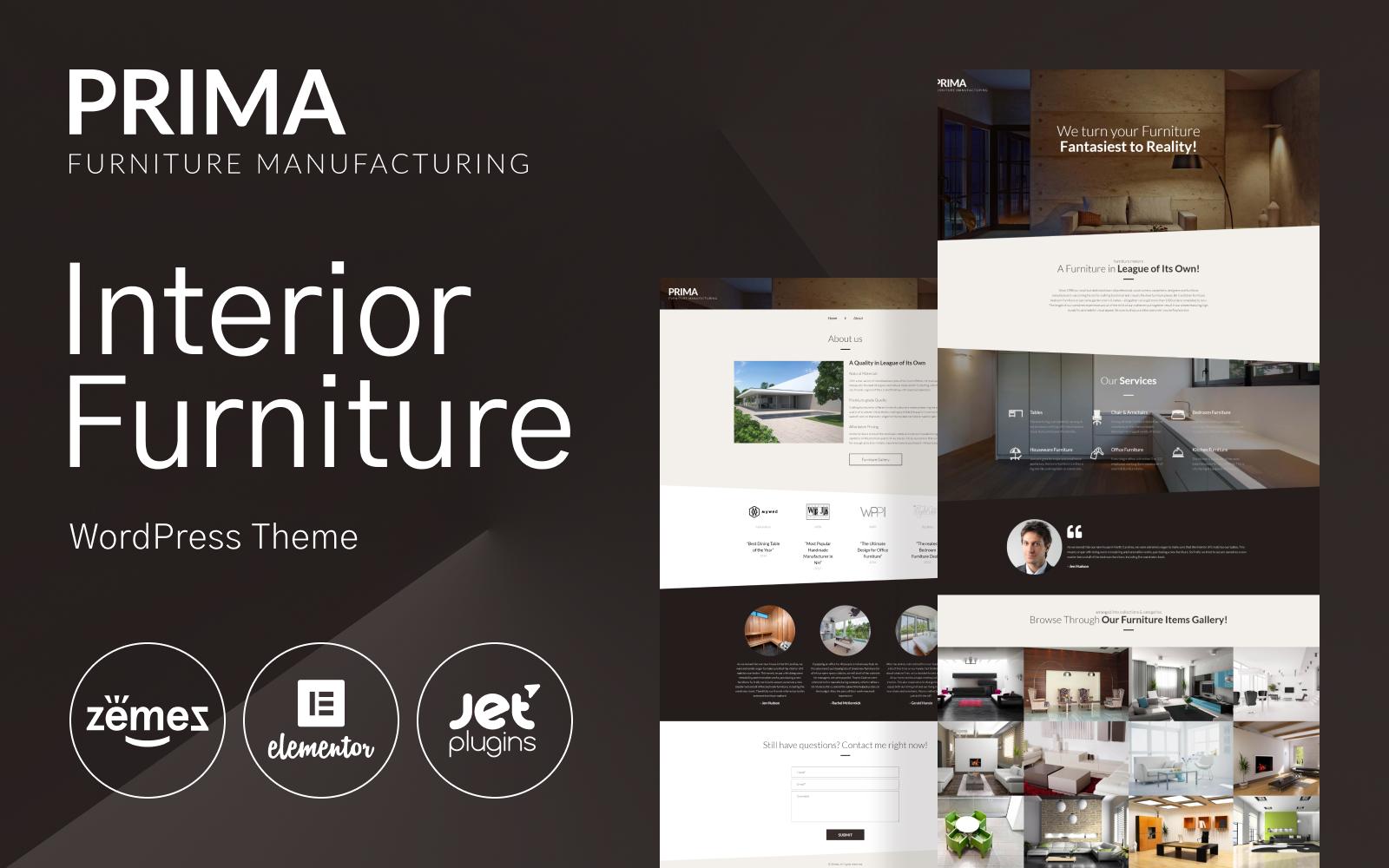 Reszponzív Interior Furniture WordPress Theme - Prima WordPress sablon 53145